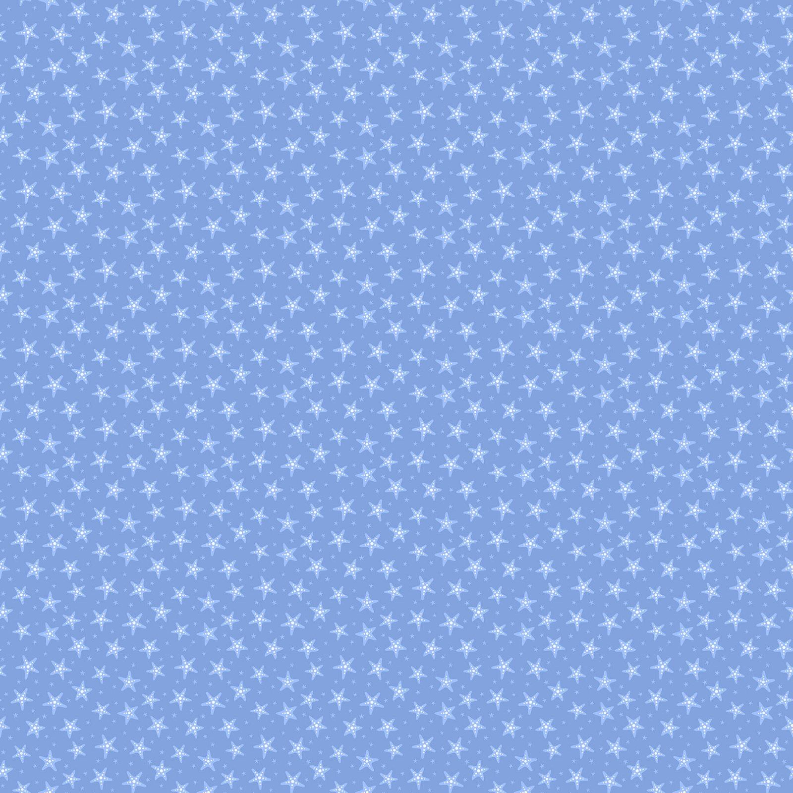 Mermaid Kitties Dk Blue Starfish