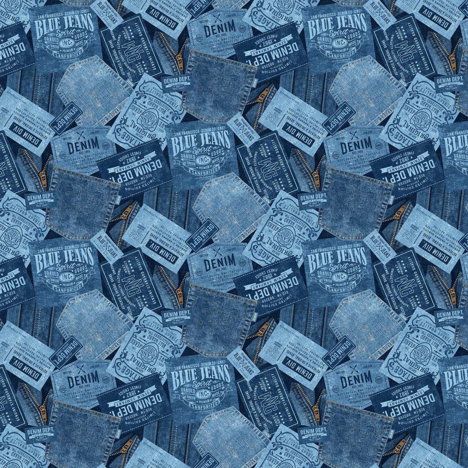 GOT THE BLUES DENIM POCKETS DARK BLUE 23378-48