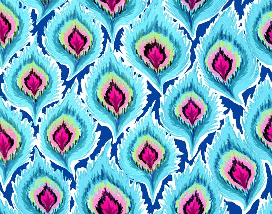DELILAH FEATHERS TURQUOISE 26959-Q