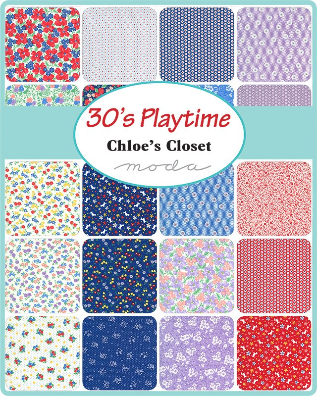 30's Playtime by Moda Fabrics Coming March 2021