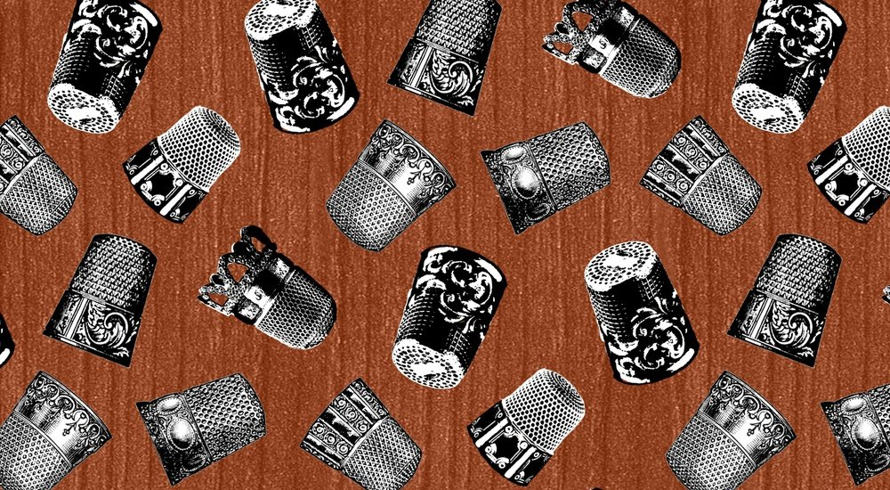A Stitch In Time Thimbles Brown 7364 35
