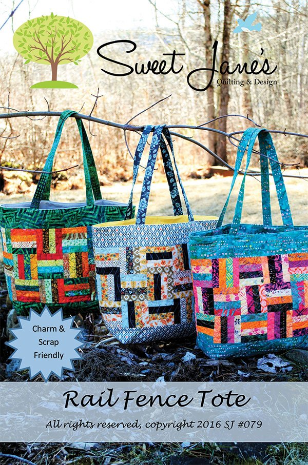 Rail Fence Tote Pattern by Sweet Jane Quilting SJ 079