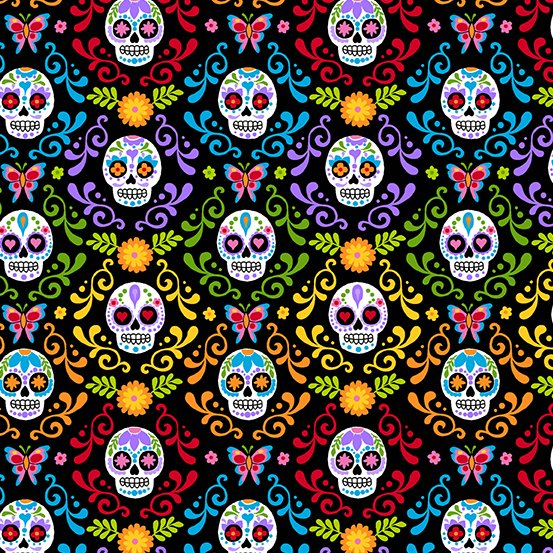 Day of the Dead Mariposas Night A 9818 K