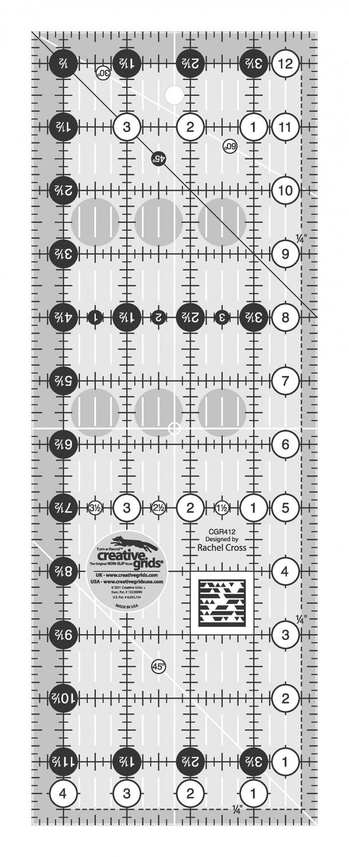 Creative Grids Ruler 4.5 X 12.5 CGR412