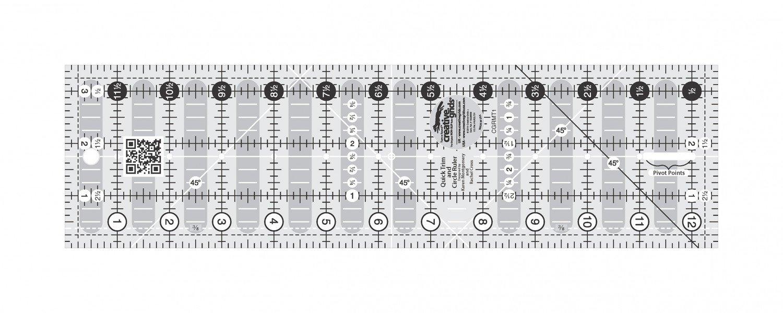 Creative Grids Quick Trim Ruler 3 1/2 X 12 1/2 CGRMT1