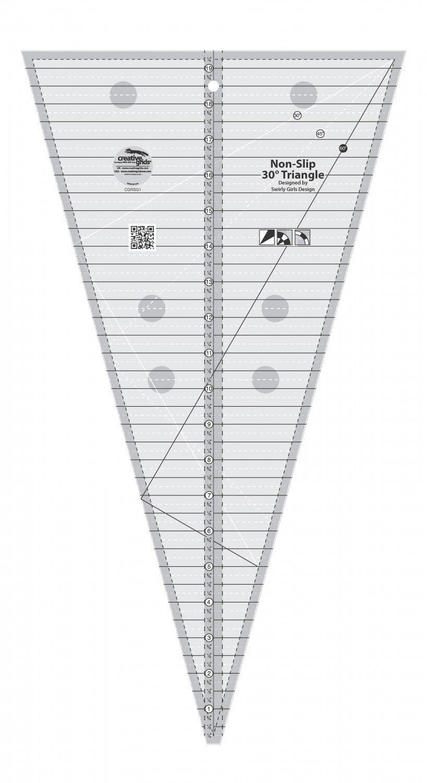 Creative Grids 30 Degree Triangle Ruler CGRSG1