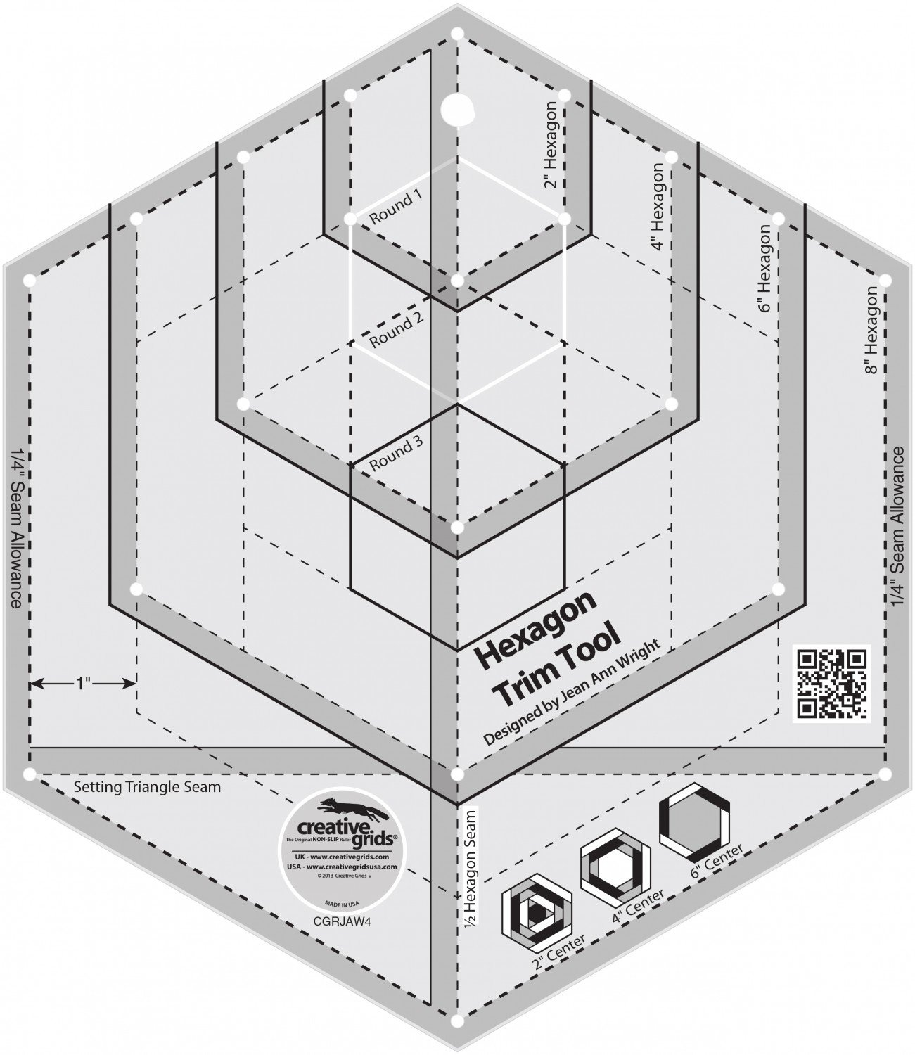 Creative Grids Hexagon Trim Tool CGRJAW4