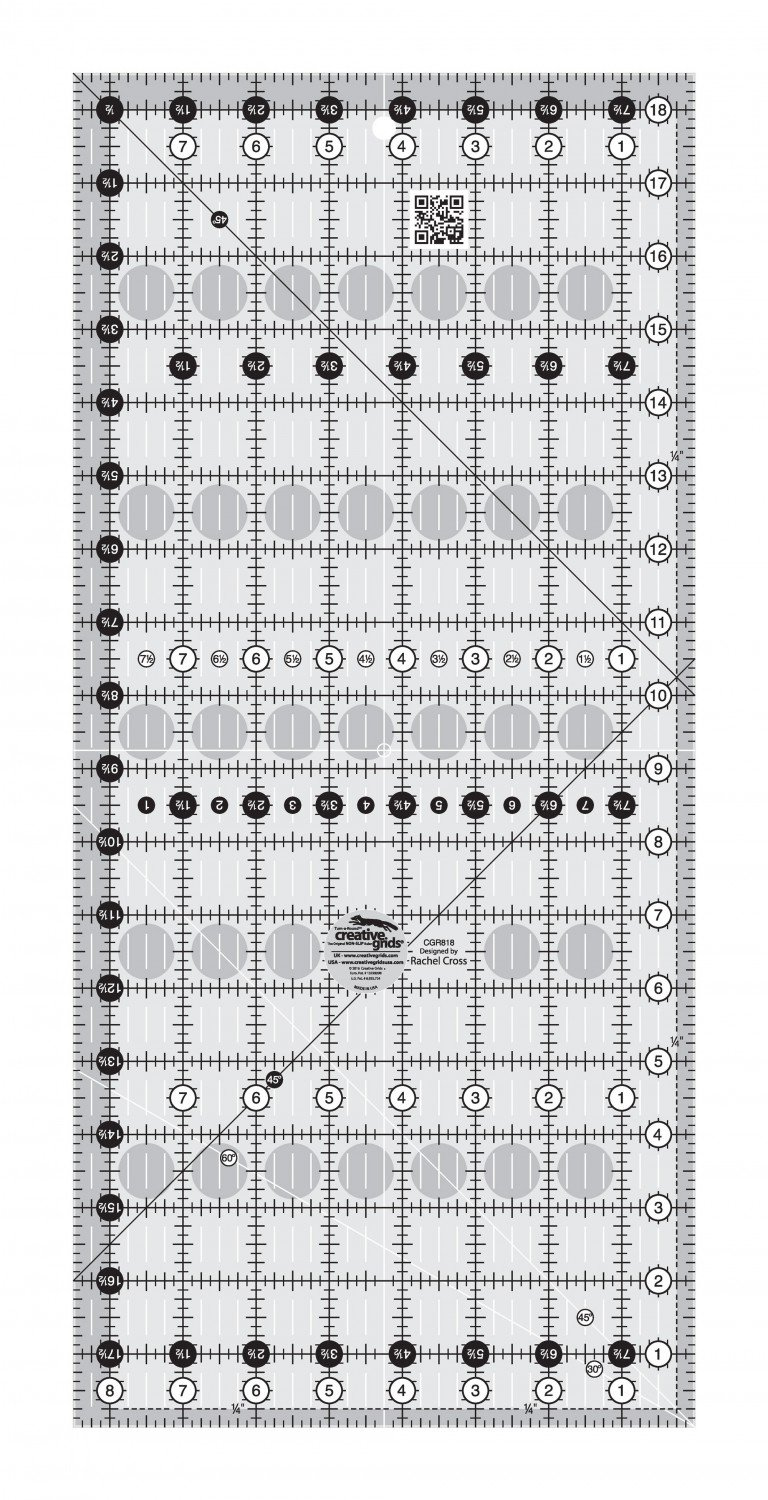 Creative Grids Quilt Ruler 8-1/2in x 18-1/2in  CGR818