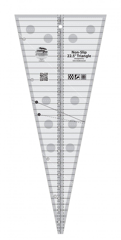 Creative Grids 22.5 Degree Triangle Quilt Ruler CGREU3