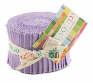Bella Solids Junior Jelly Roll Lilac  9900JJR 66