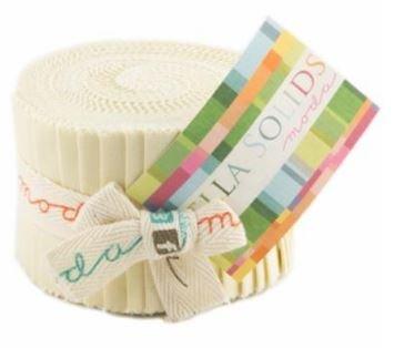 Bella Solids Junior Jelly Roll Fig Tree Cream 9900JJR 67