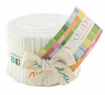 Bella Solids Junior Jelly Roll Porcelain 9900JJR 182