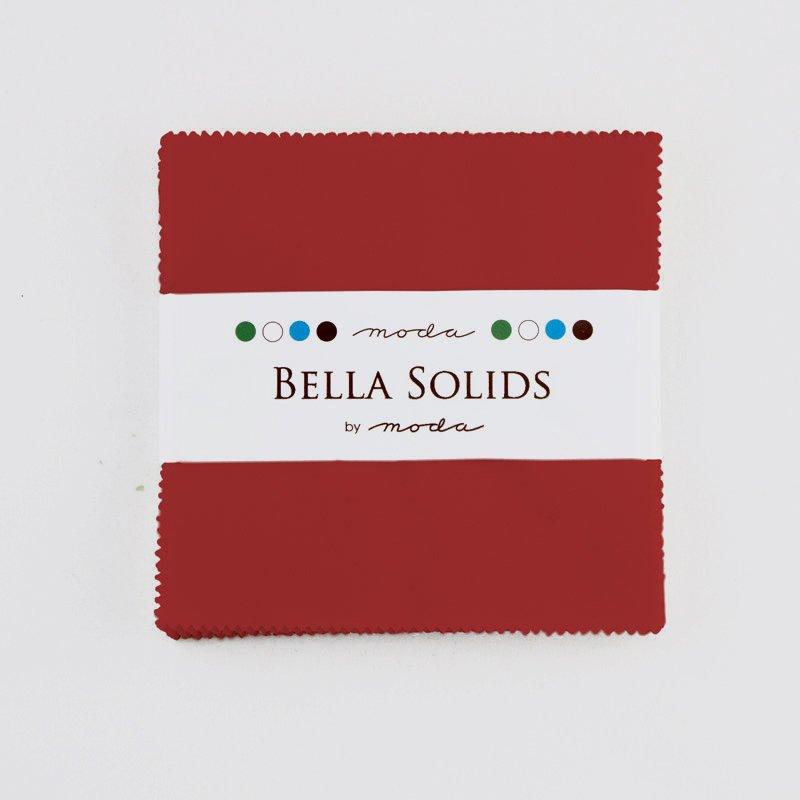 Bella Solids Charm Pack Christmas Red 9900PP 16