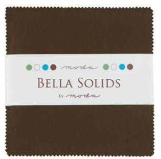 Bella Solids Charm Pack Moda U Brown 9900PP 71