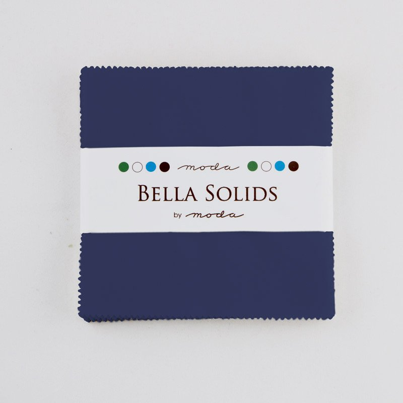 Bella Solids Charm Pack Admiral Blue 9900PP 48