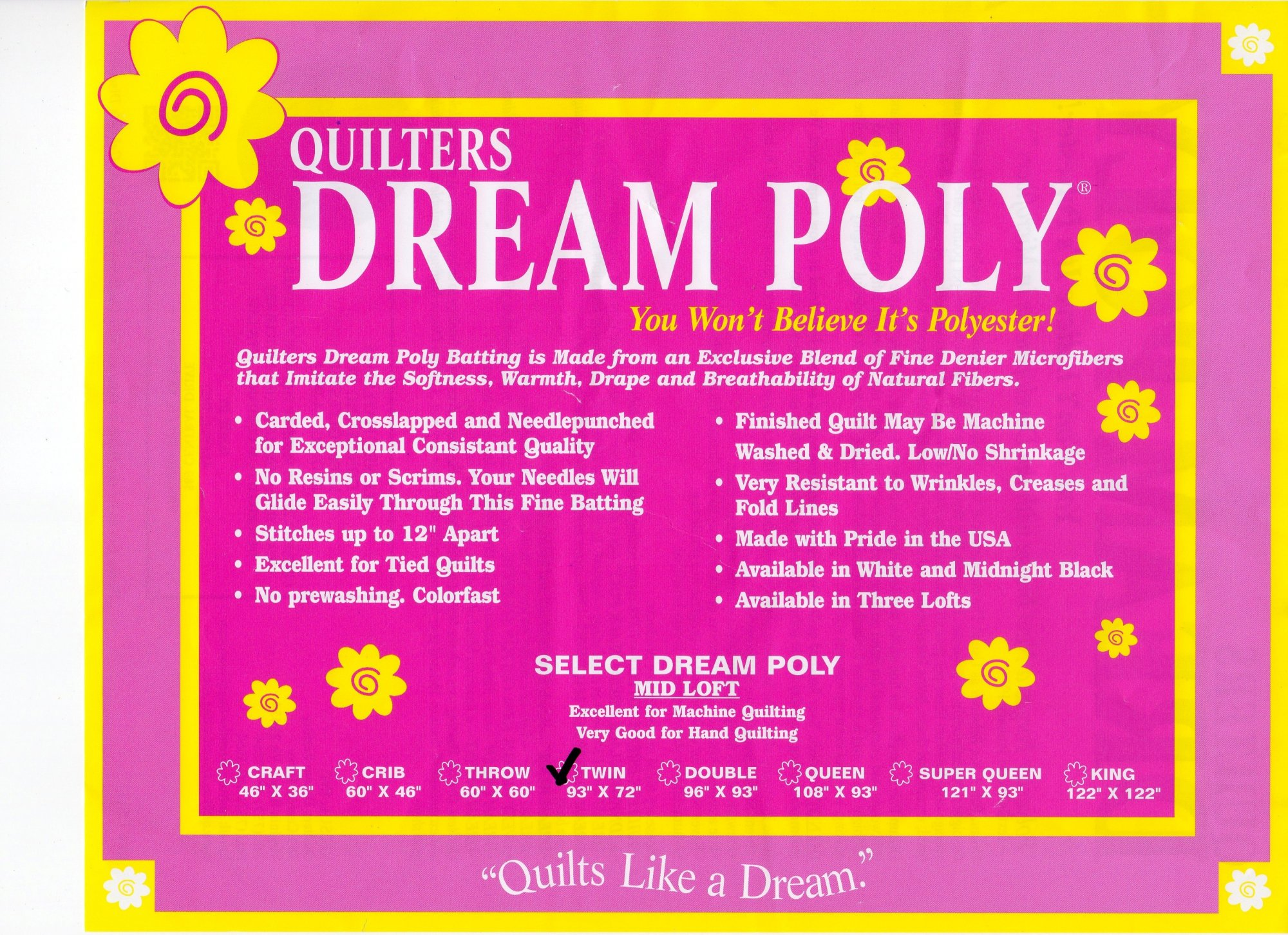 Select Poly Super Queen  P4SQ
