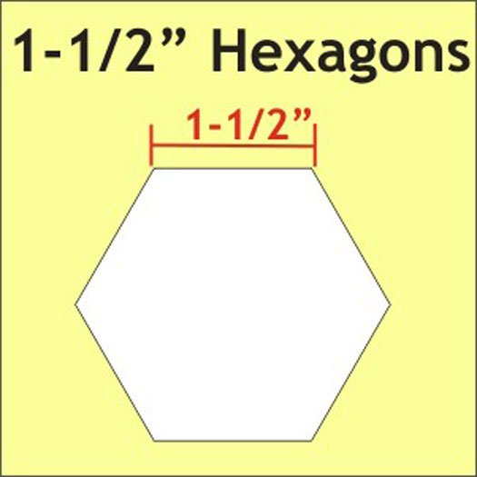 1 1/2 Hexagons 300 PCS HEX150L