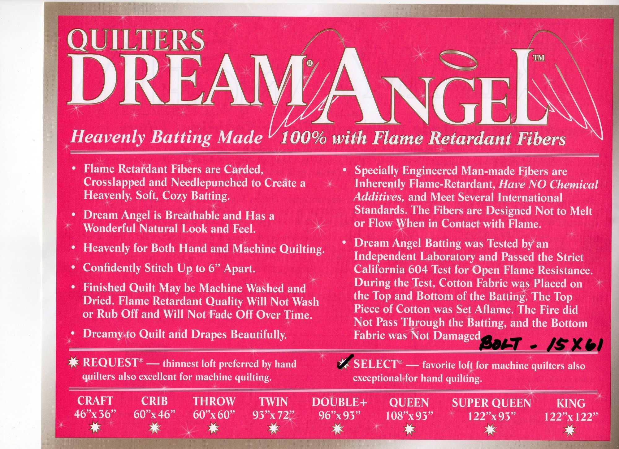 Dream Angel Select 61 Wide  A4Bolt-61