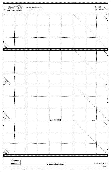 Quiltsmart Midi Bag Additional Panels 65040W