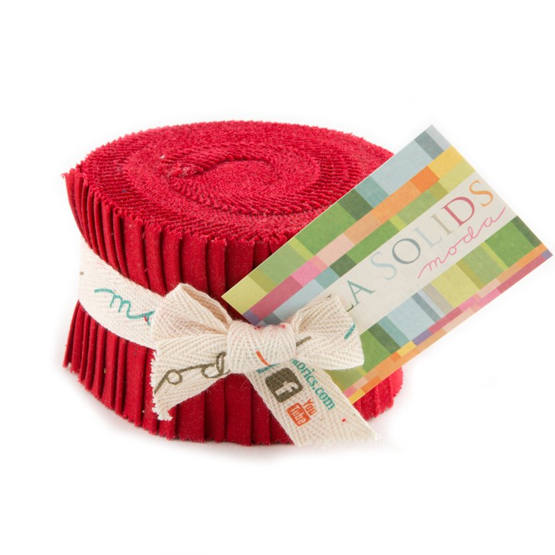 Bella Solids Junior Jelly Roll Christmas Red 9900JJR 16