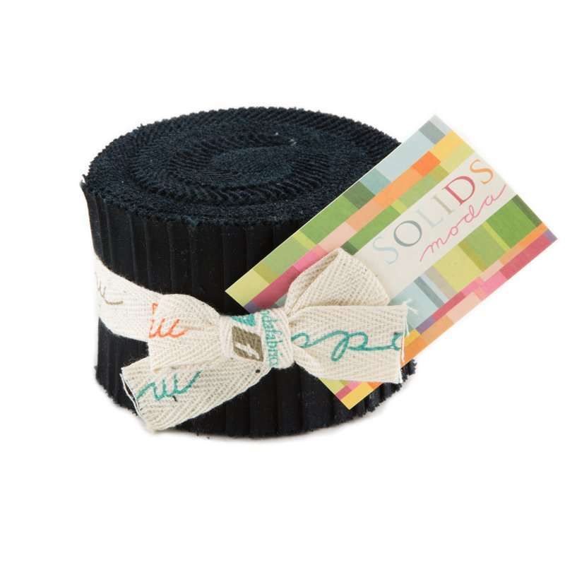 Bella Solids Junior Jelly Roll Black 9900JJR 99