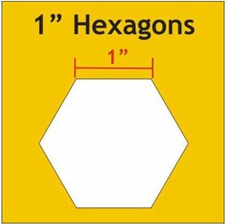 1 Hexagons Paper Pieces 100 Pieces HEX100S