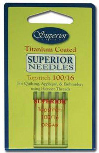 Superior Needles Titanium Coated Topstitch SZ 100/16
