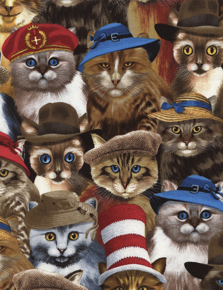 Cats in Hats Michael-C3782 Natural