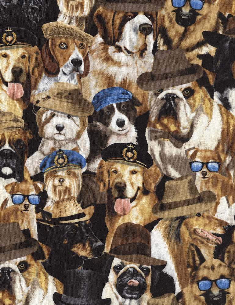 Dogs with Hats Michael-C3951 Natural
