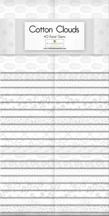 Cotton Clouds 40 Karat Gems 2.5 x 42 Strips 842-70-842