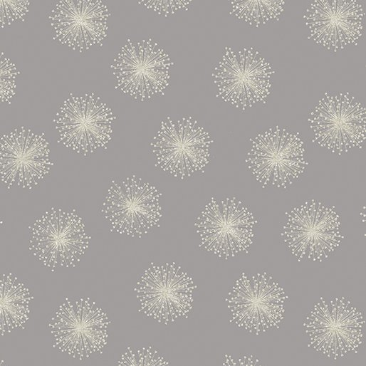 Natures Pearl Floating Dandelion Grey/Silver 8462P 11