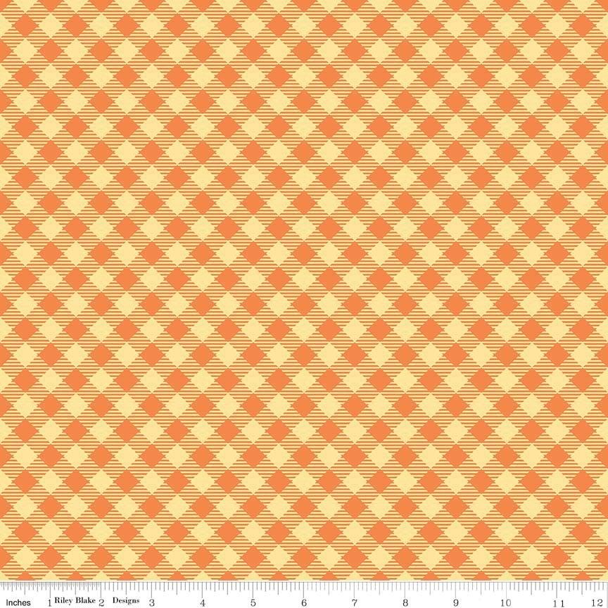 BEE BASICS GINGHAM ORANGE C6400-ORANGE