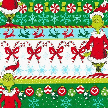 How the Grinch Stole Christmas Stripe White