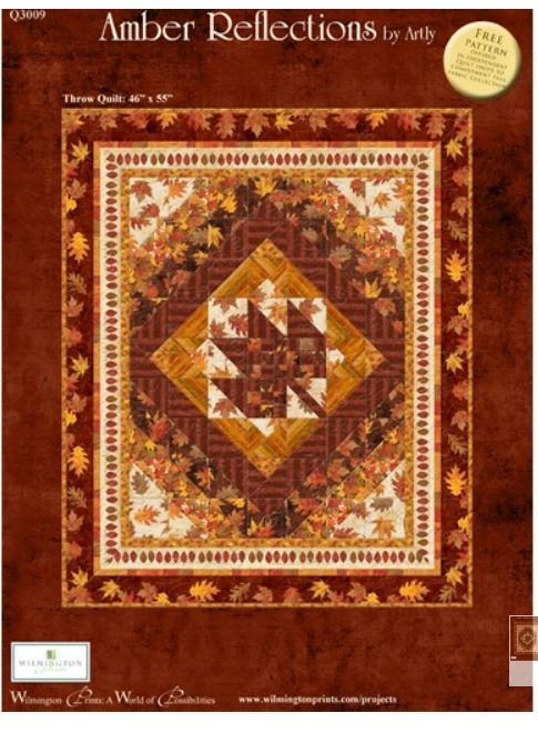 Amber Reflections Quilt Kit 46 X 55