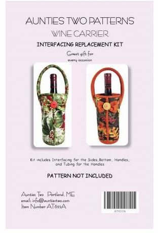 Aunties Two Wine Carrier Interfacing Replacement Kit AT 622A