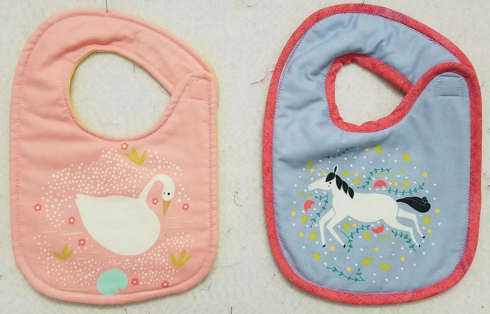 Baby Reversible Bibs Samples