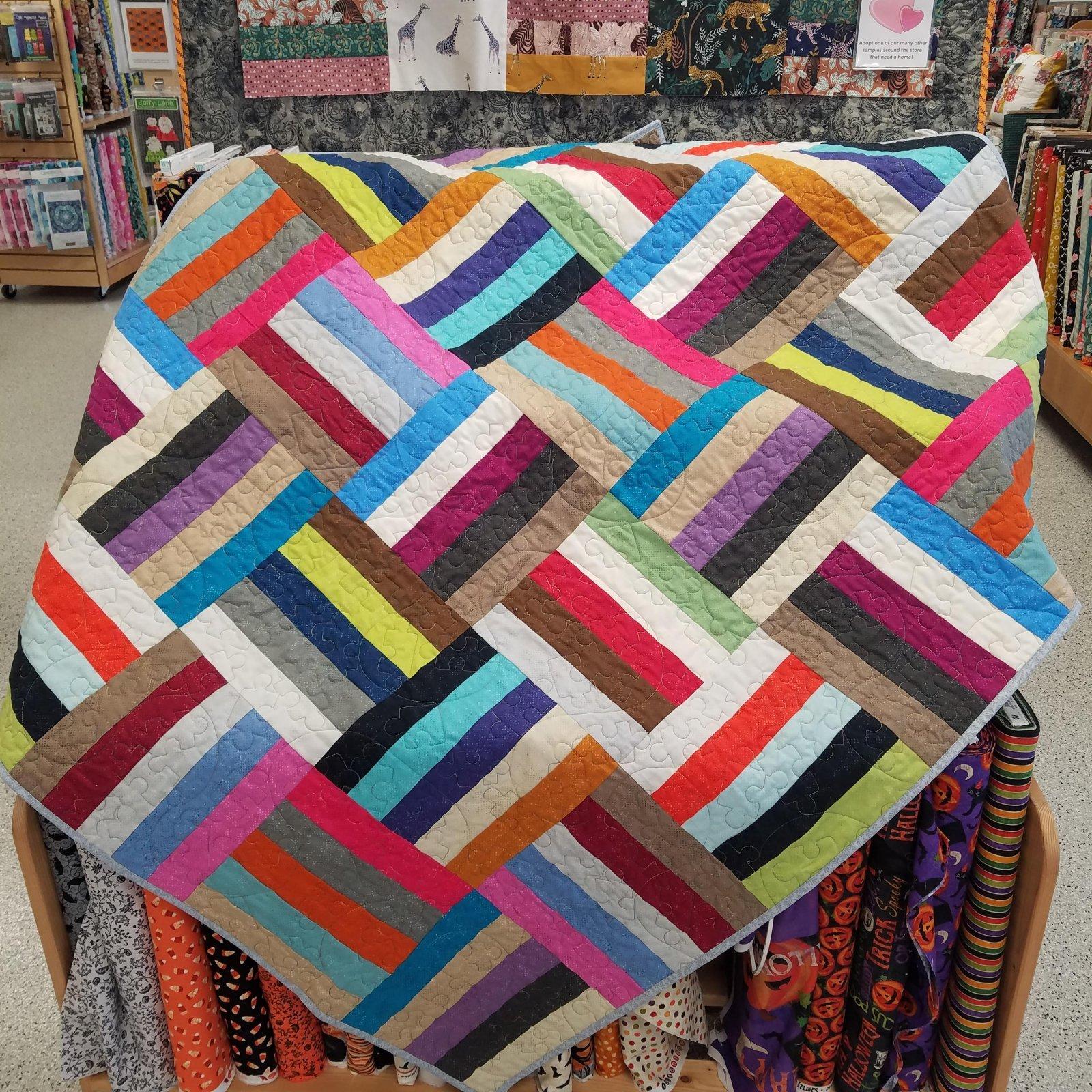 Basket Case Spotted Quilt Kit