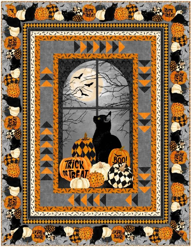 Black Cat Capers Goose Chase Quilt Kit