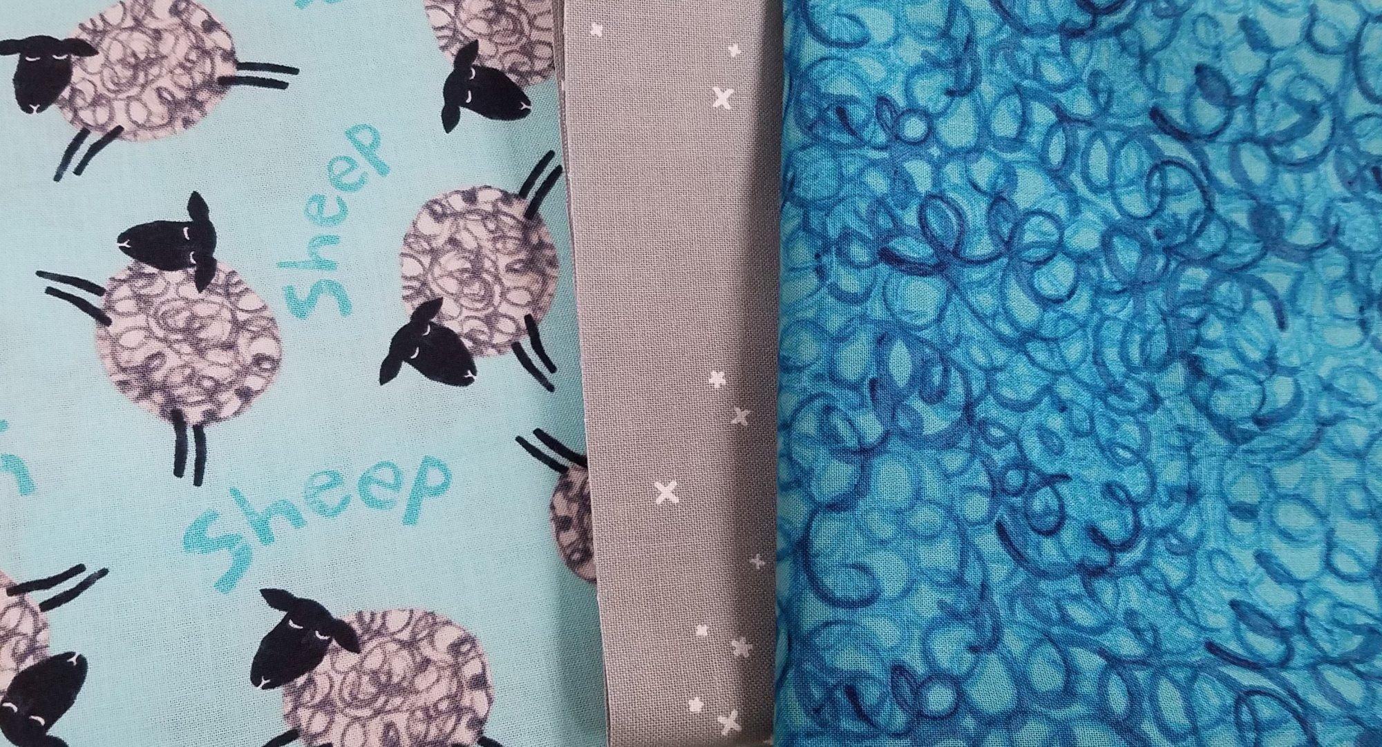Animal Magic Blue Sheep Pillowcase Kit