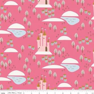 Hot Pink Guinevere Castle C7091-HOTPINK