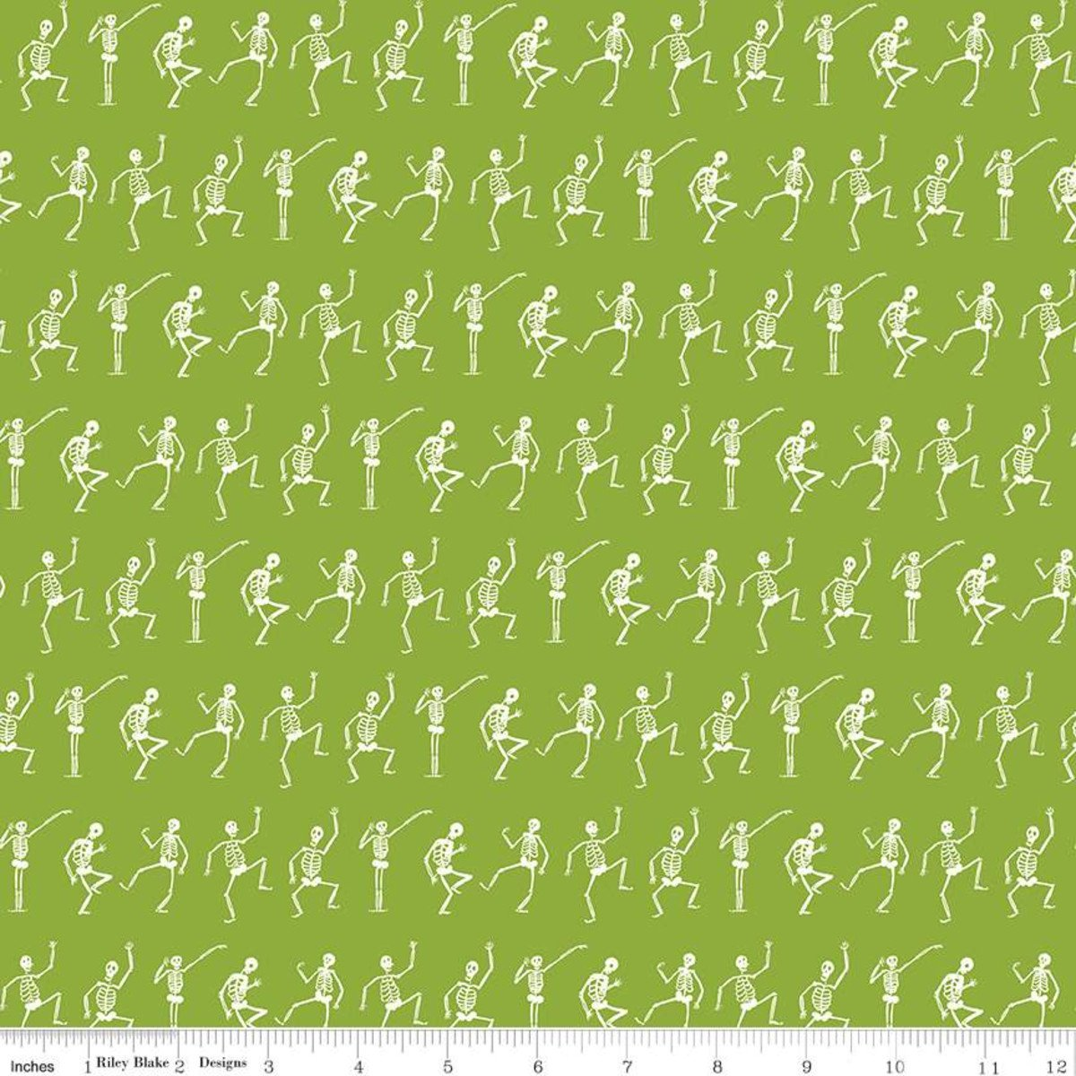 Hocus Pocus Skeletons Green C9494-GREEN
