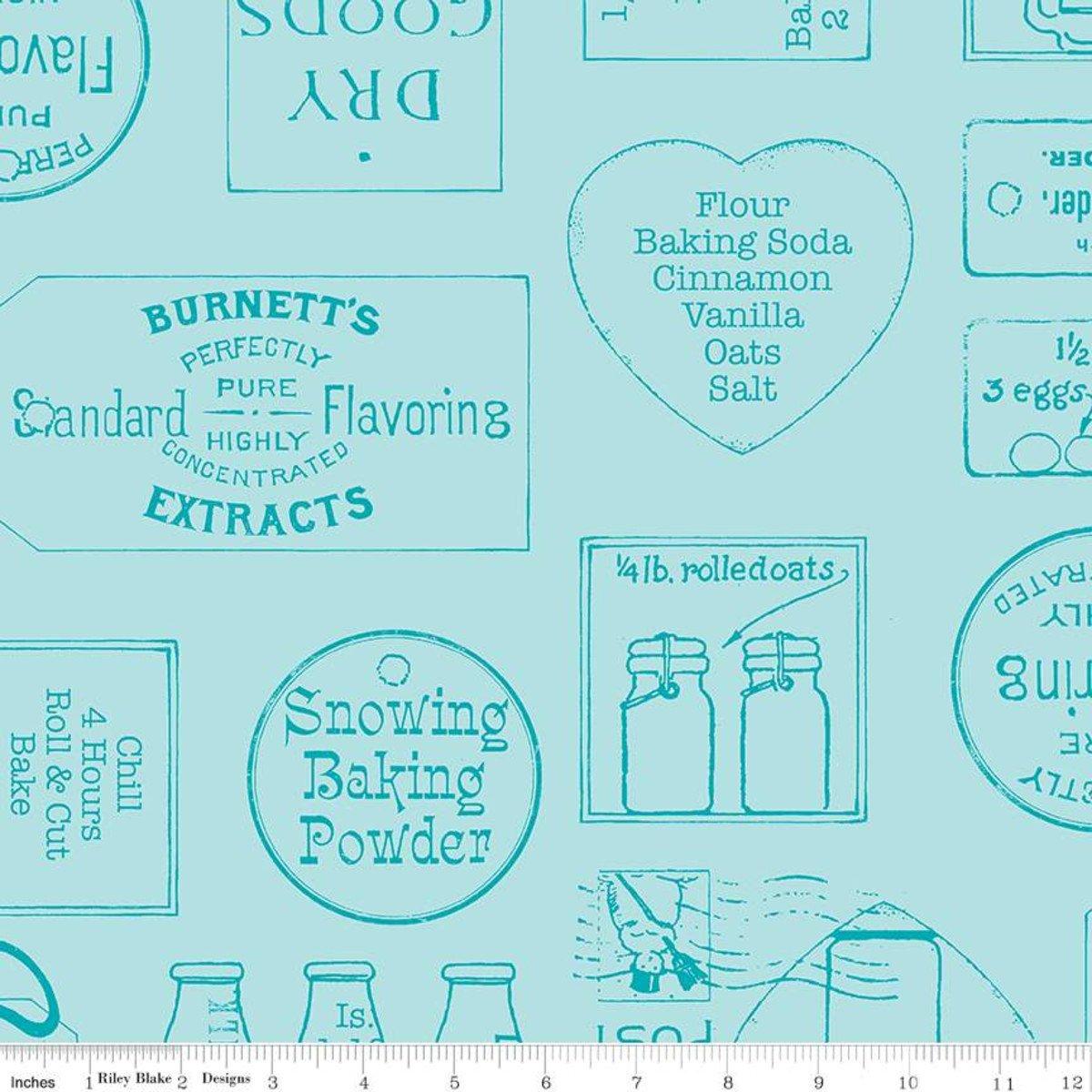 Snow Sweet Vintage Ads Blue C9673 BLUE