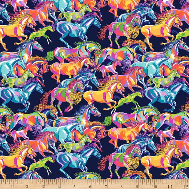 Calico Horses by FreeSpirit Fabrics