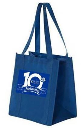Printed 10th Anniversary Bags