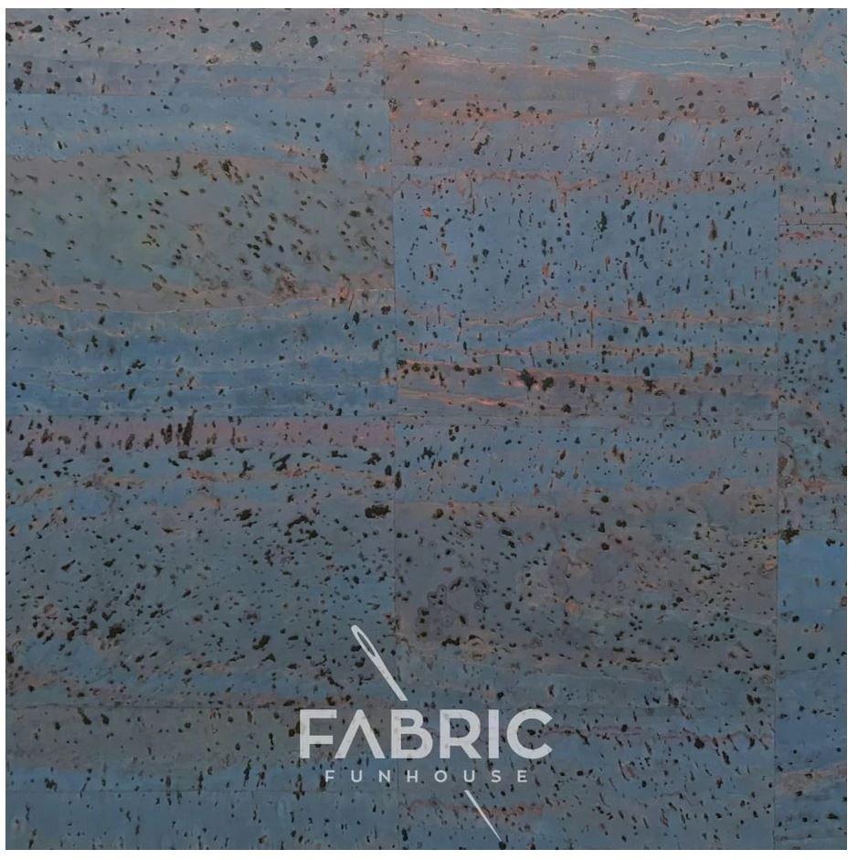 Cork Fabric Blue 18 X 27