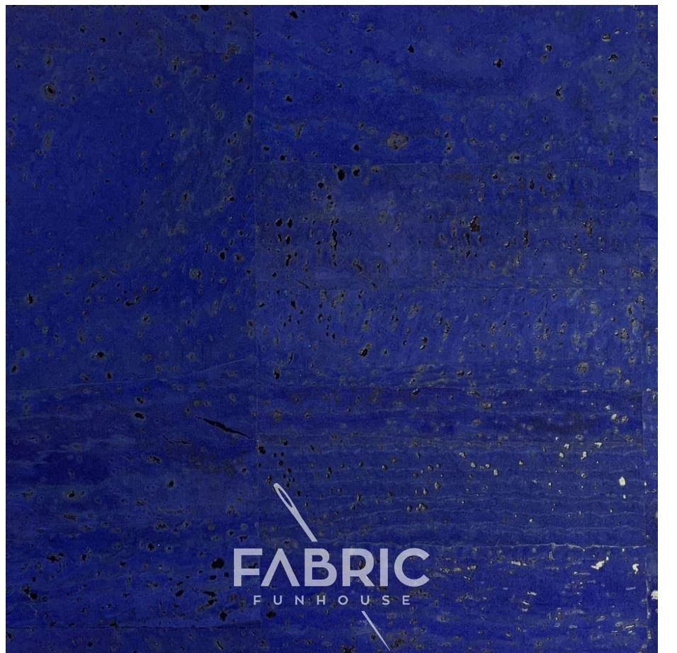 Cork Fabric Cobalt 18 X 27