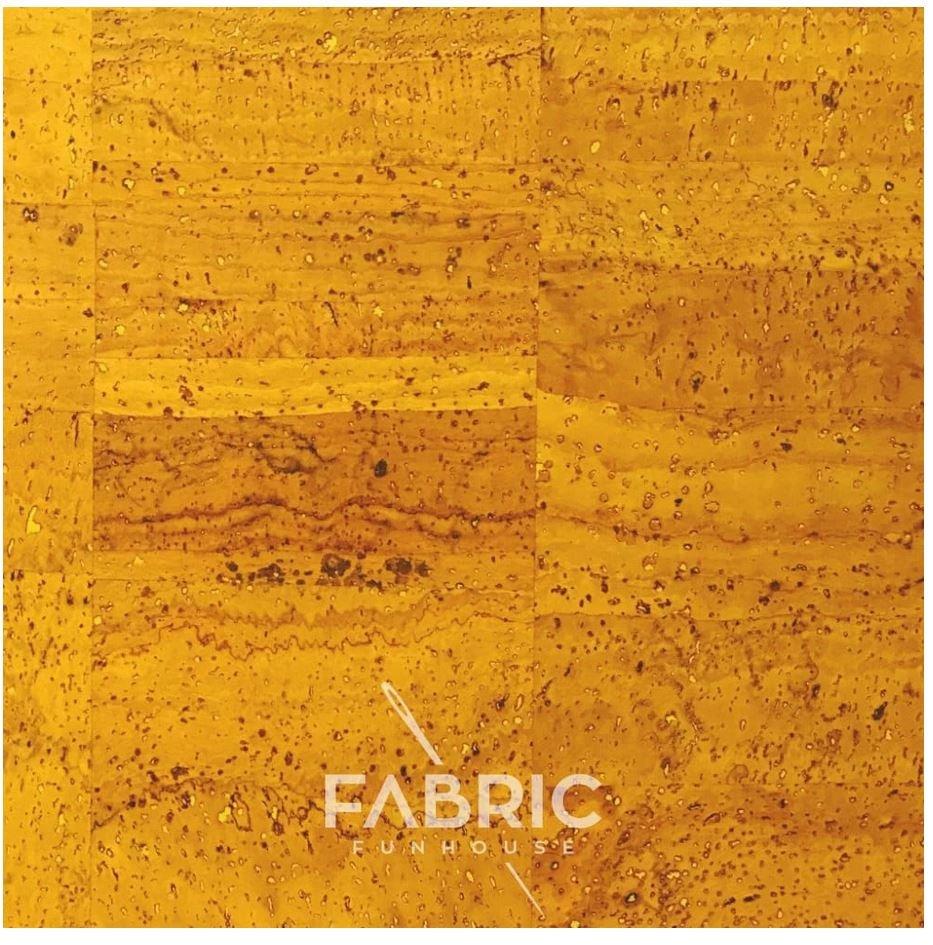 Cork Fabric Mustard 18 X 27