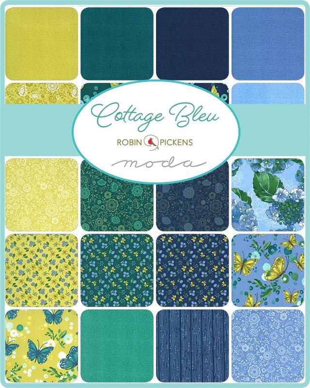 Cottage Bleu by Moda Fabrics Coming April 2021