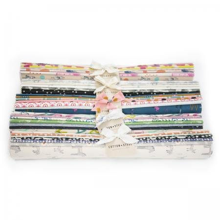 Throwback C+S Half Yard Roll Pack, Total 3 Yards Fabric