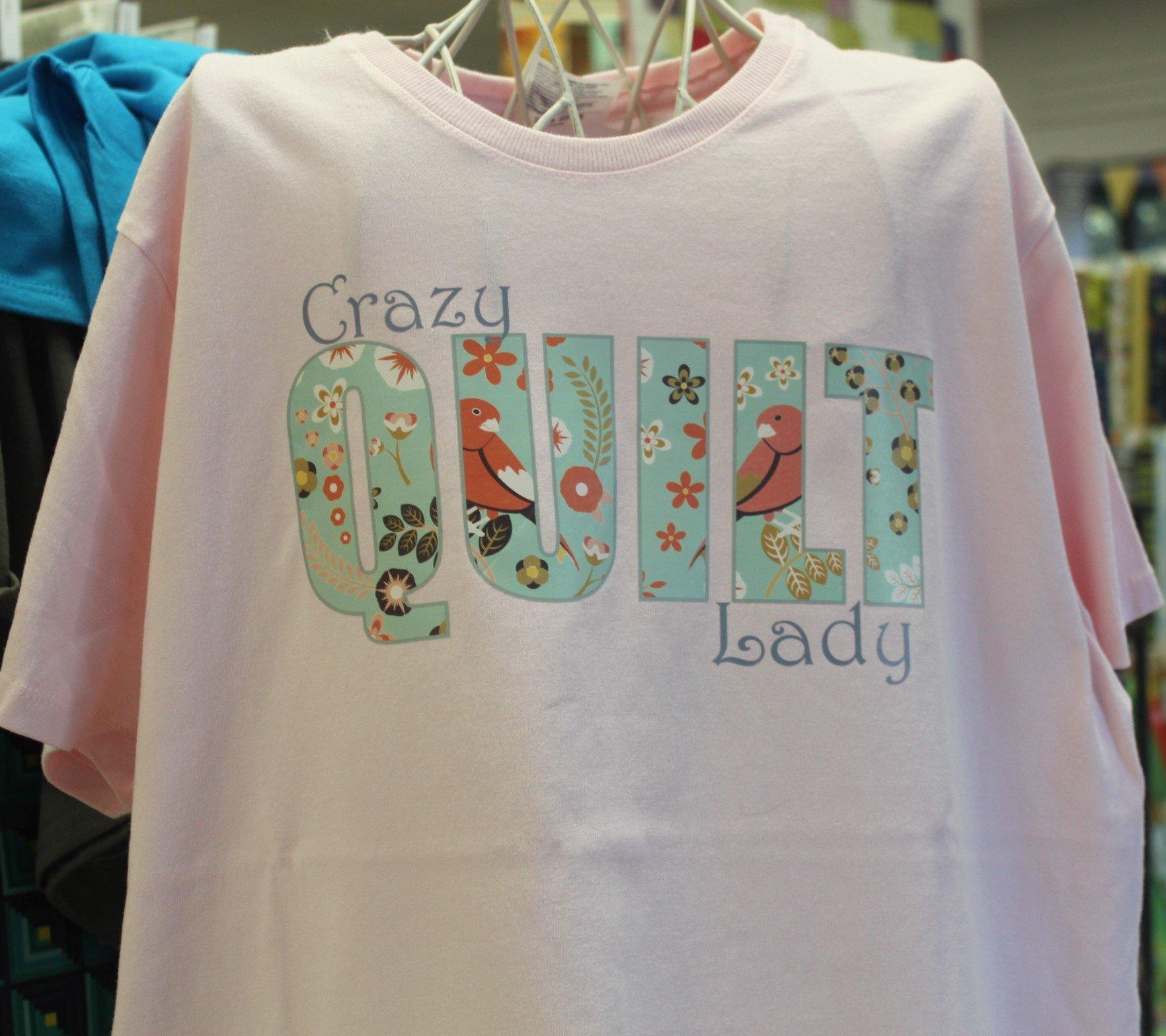 Crazy Quilt Lady Pink 2XL T-Shirt